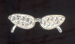 Sterling Silver Charm, Glasses