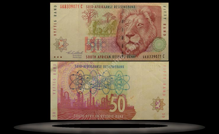 South Africa Banknote, 50 Rand, ND (1992), P#125b