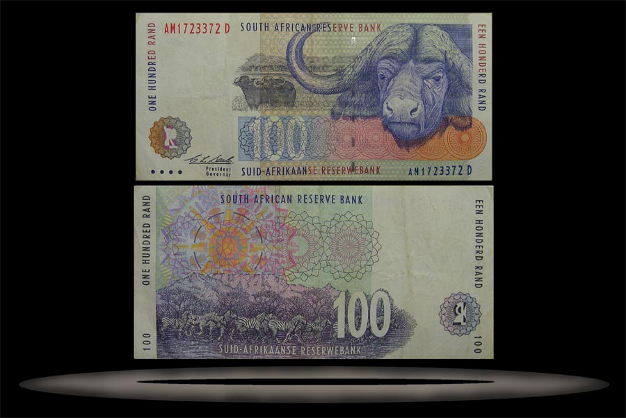 South Africa Banknote, 100 Rand, ND (1994), P#126a