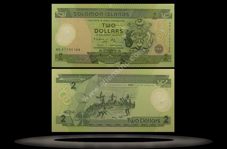 Solomon Islands Banknote, 2 Dollar, (20)01, P#23