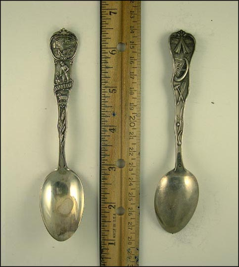 Wheat, Men Working, Sheep Souvenir Spoon