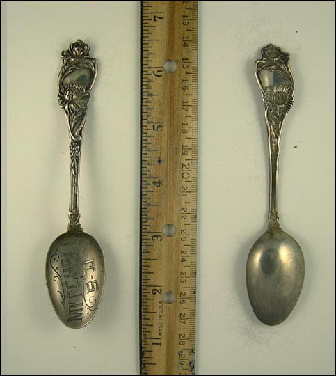 Floral, Mitchell, South Dakota Souvenir Spoon