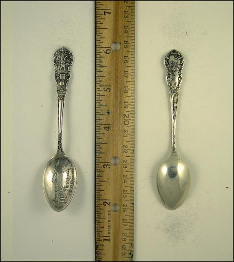 The Moat, Fort Monroe, Old Point Comfort Souvenir Spoon MAIN