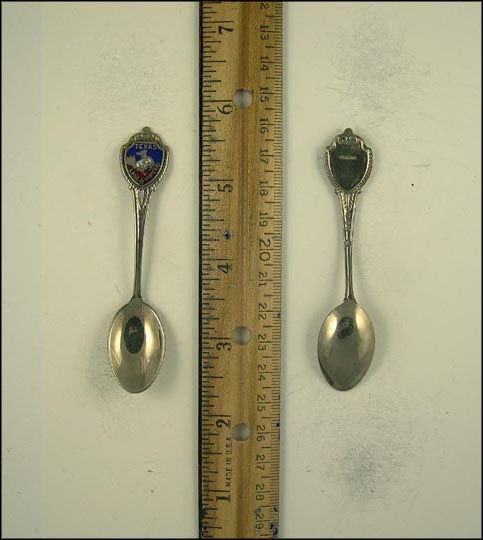 State Seal, Enameled, Lone Star State Souvenir Spoon