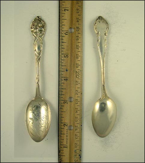 Floral, Spokane, Washington Souvenir Spoon