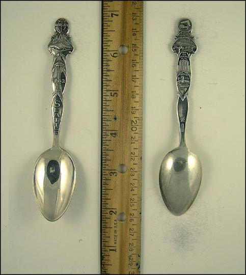 World's Fair Coliseum, Tower, Century Exposition, U.S. Science Building... Souvenir Spoon