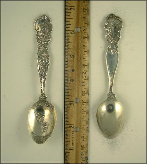 Water Falls, Buffalo, Native American, Pan-American Exposition 1901, Buffalo, New York Souvenir Spoon MAIN