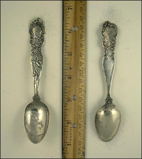 Niagara Falls, Buffalo, Native American, Pan-American Exposition 1901, Buffalo, New York Souvenir Spoon MAIN