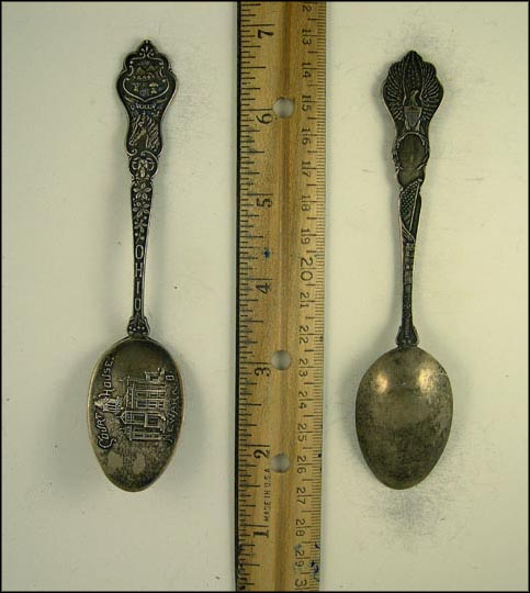 Court House. State Seal, Horse, Sheep, Newark, Ohio Souvenir Spoon