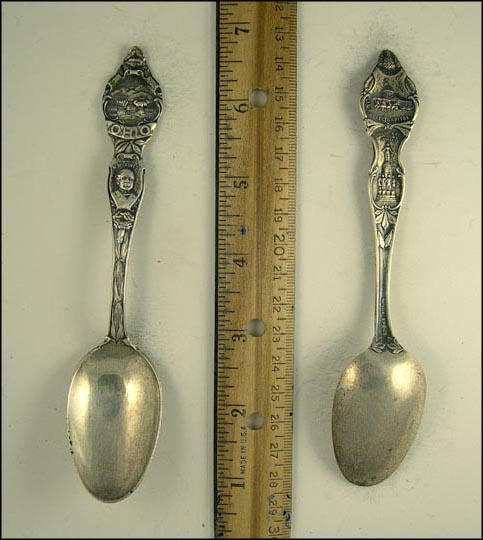 William Mckinley, State Seal, State Capitol, These Are My Jewels Souvenir Spoon
