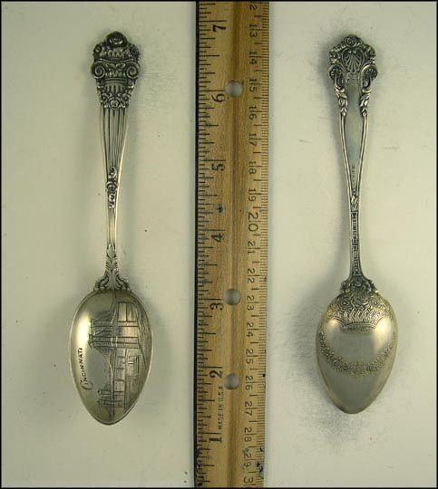 Bridge, Ship, Cincinnati, Ohio Souvenir Spoon