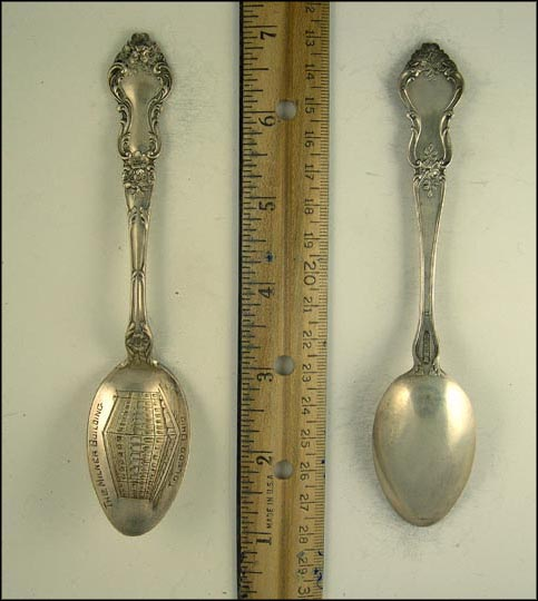 The Milner Building, Toledo, Ohio Souvenir Spoon