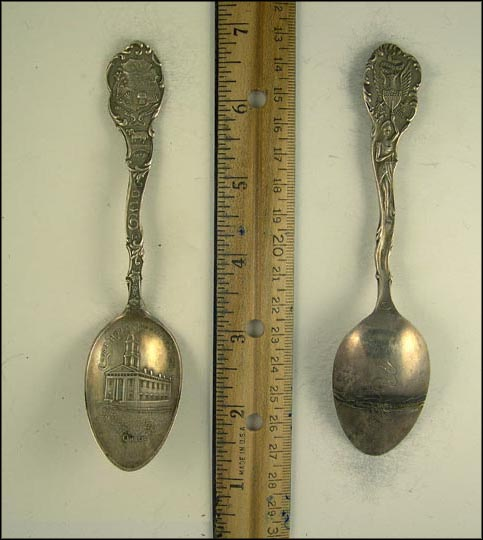 Court House, State Seal, Mt. Vernon, Ohio Souvenir Spoon