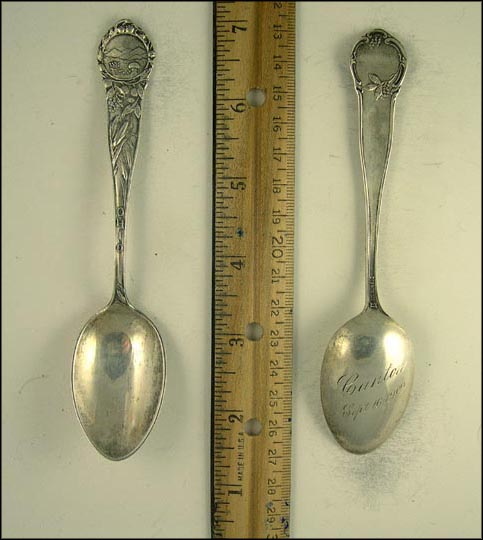 State Seal, Corn, Buckeye Branch Souvenir Spoon
