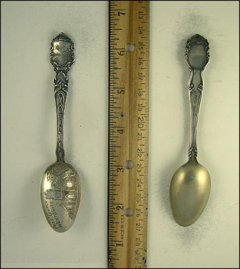 Presbyterian Church, State Seal, West Unity, Ohio Souvenir Spoon