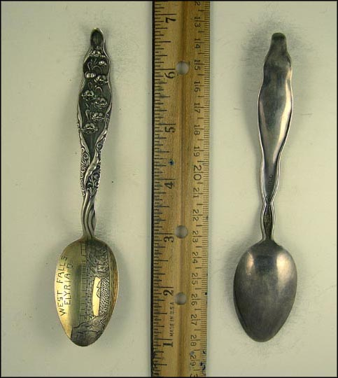 West Falls, Elyria, Ohio Souvenir Spoon