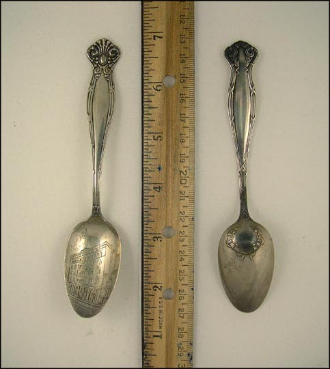 J.O.O.F. Hall, Waterbury, Connecticut Souvenir Spoon
