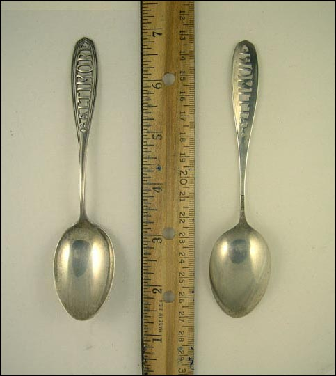 Cut Out, Baltimore, Maryland Souvenir Spoon