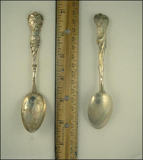 State Seal, State Capitol, Lincoln, Nebraska Souvenir Spoon MAIN