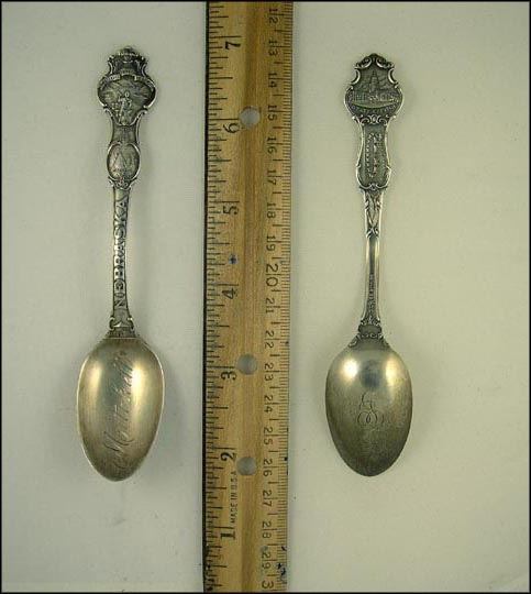 Ft. Kearny, Omaha 1854, State Seal, State Capitol, Pioneer Camp, Mitchell, Nebraska Souvenir Spoon