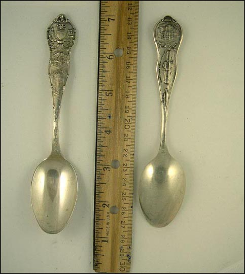 State Seal, City Hall and Courthouse, Masonic Temple, Public Library... Souvenir Spoon