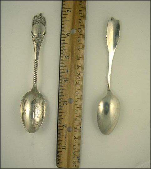 Globe, Columbian Exposition 1893, Horticulture Hall, Chicago, Illinois Souvenir Spoon