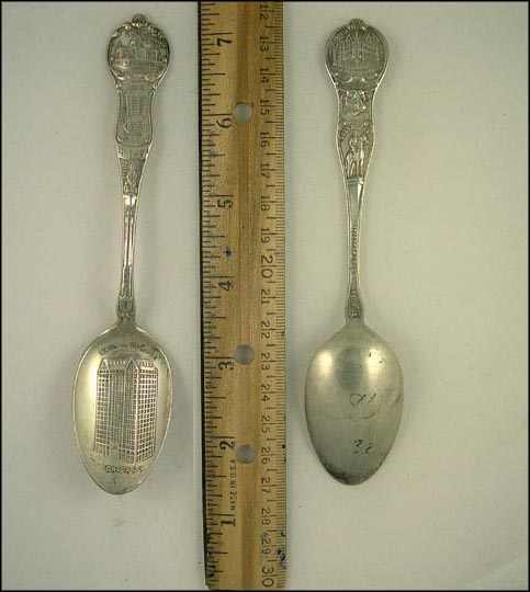 Masonic Temple, Indian Monument, Art Institute, Government Building... Souvenir Spoon MAIN
