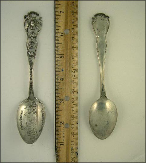 Ainad Temple, Aaonms, Cut Out, East St. Louis, Illinois Souvenir Spoon