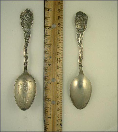 Illinois State Seal, Peoria Distilling, Peoria, Illinois Souvenir Spoon