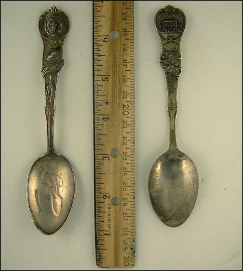 Shoe, Minute Man, Plymouth Rock, State Seal, State Capitol, Hoosac Tunnel... Souvenir Spoon