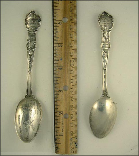 State House, Washington Elm, Old South Church, The Hub, Bunker Hill... Souvenir Spoon
