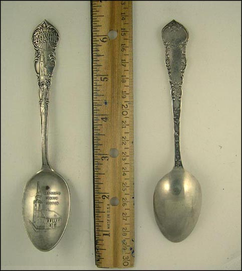 Old South Church, Paul Revere, Old North Church, Boston, Massachusetts Souvenir Spoon