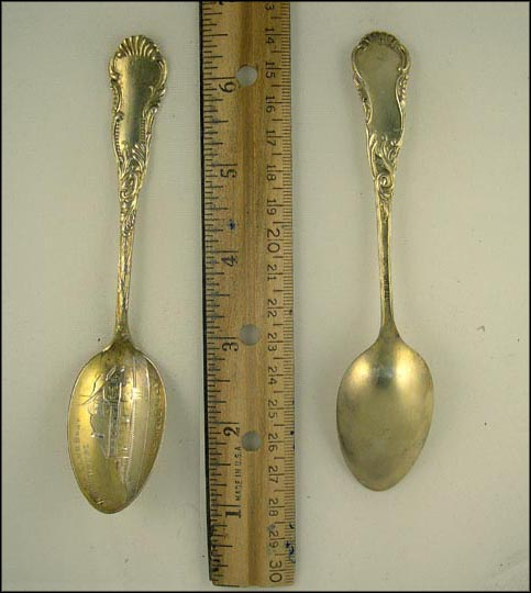 Vesper Club Boat House, Lowell, Massachusetts Souvenir Spoon