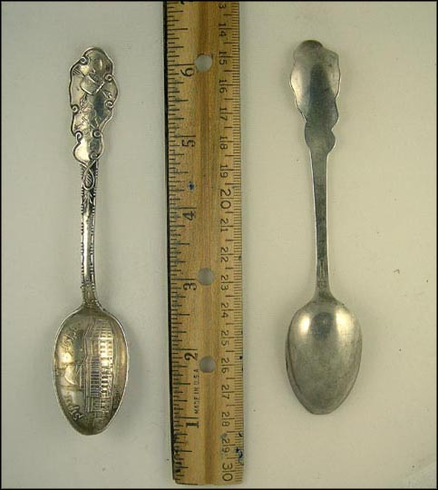 State House, Baked Beans, Boston, Massachusetts Souvenir Spoon