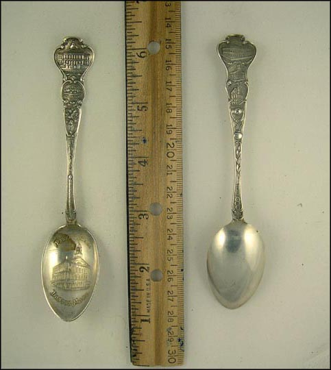 State House, City Seal, Bunker Hill, Faneuil Hall, Public Library... Souvenir Spoon