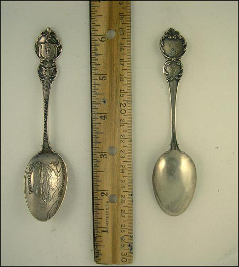 Balance Rock, State Seal, Pittsfield, Massachusetts Souvenir Spoon
