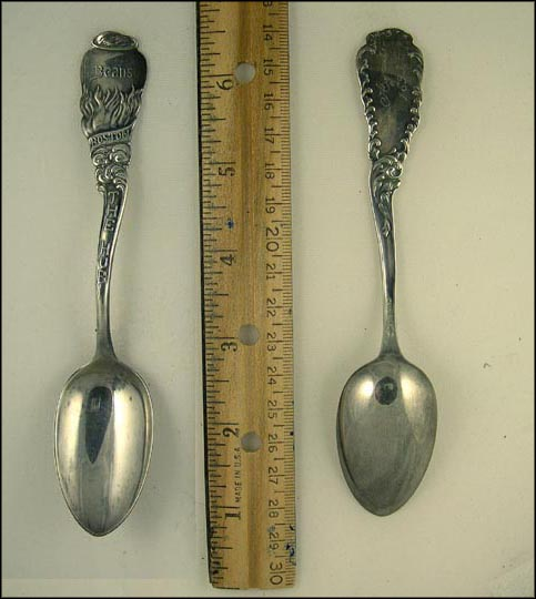 Beans, The Hub, Boston, Massachusetts Souvenir Spoon MAIN