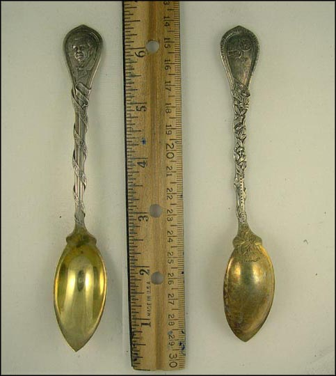 Oliver Wendall Holmes, Buggy, The Autocrat of the Breakfast Table, Boston, Massachusetts Souvenir Spoon