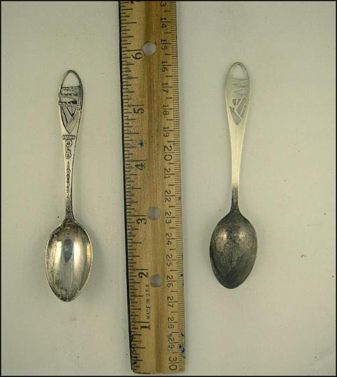Cut Out Ship, Old Ironsides, Boston, Massachusetts Souvenir Spoon