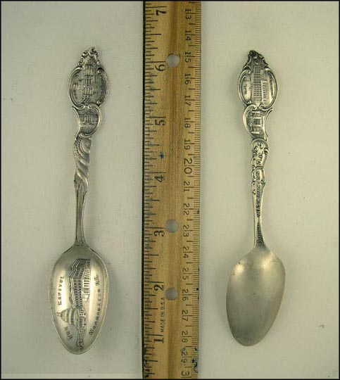 The Capitol, White House, New Library, US Treasury... Souvenir Spoon