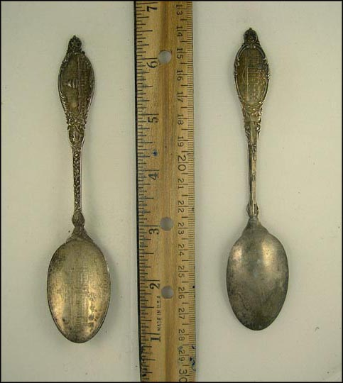 The New Library of Congress, The White House, Washington, District of Columbia Souvenir Spoon