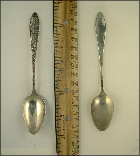 Cut Out, White House, Washington, District of Columbia Souvenir Spoon