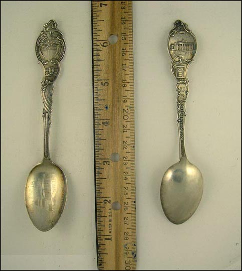 US Capitol, White House, Mount Vernon, Tomb, District Seal, Washington, District of Columbia Souvenir Spoon