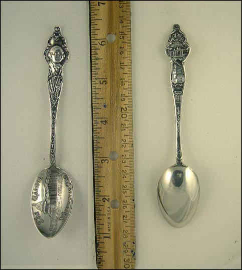 The Capitol, George Washington, Mt. Vernon, Christ Church... Souvenir Spoon MAIN
