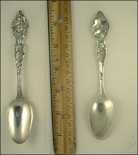 DC Seal, The Capitol, Library of Congress, Mount Vernon... Souvenir Spoon