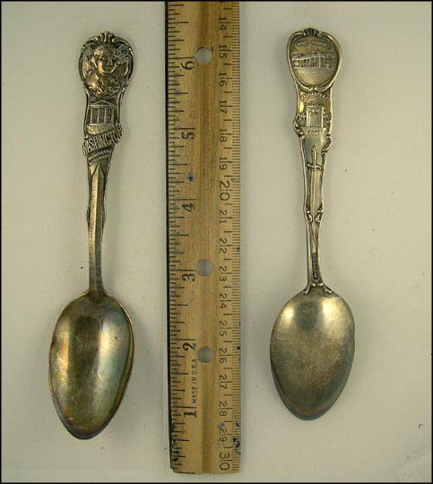 George Washington, White House, Washington Monument... Souvenir Spoon