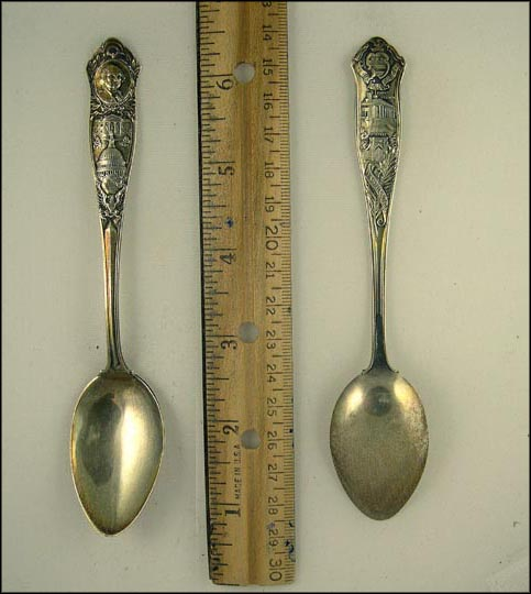 George Washington, White House, District Seal, Mount Vernon, Tomb, Washington, District of Columbia Souvenir Spoon