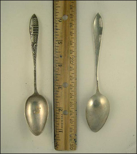 Cut Out of The White House, Washington, District of Columbia Souvenir Spoon