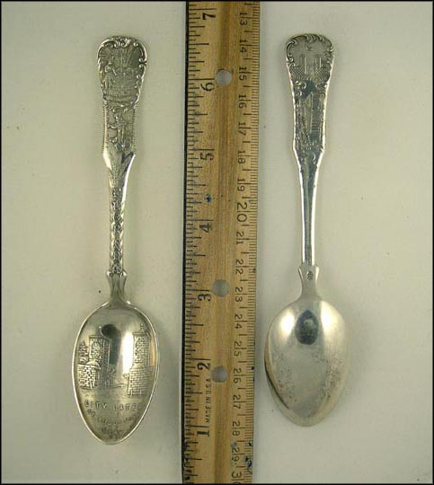 City Gates, A Florida Cracker Going to Market, State Seal... Souvenir Spoon