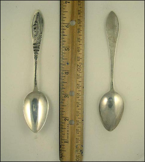 Cut Out of Million Dollar Pier, St. Petersburg, Florida Souvenir Spoon